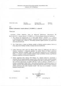 List z Ministerstva